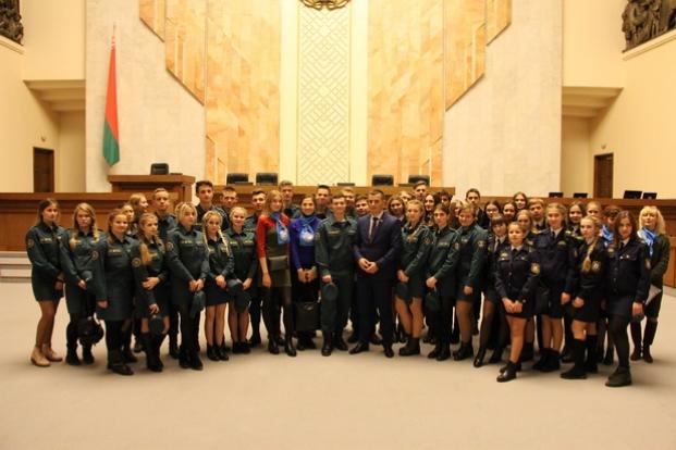 Посещение Палаты представителей Национального собрания Республики Беларусь  8 ноября 2017 года учащимися г. Бобруйска.